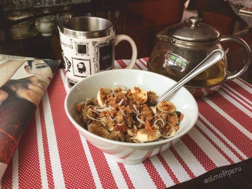 porridge de quinua  y platano