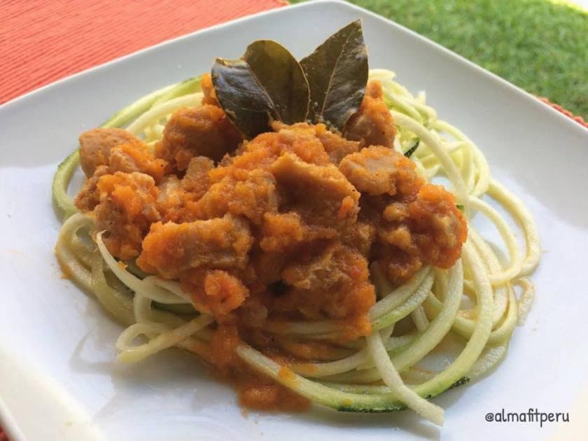 zucchini a la boloñesa
