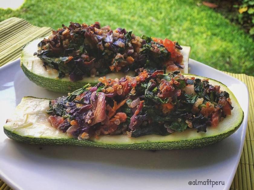 zucchini relleno con quinua